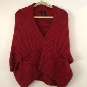Ella Moss wool poncho sweater